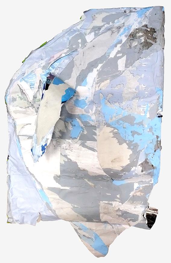 blaudecollage-Plakat